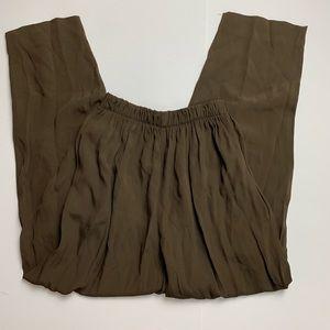 Vintage 90s high rise brown pants S